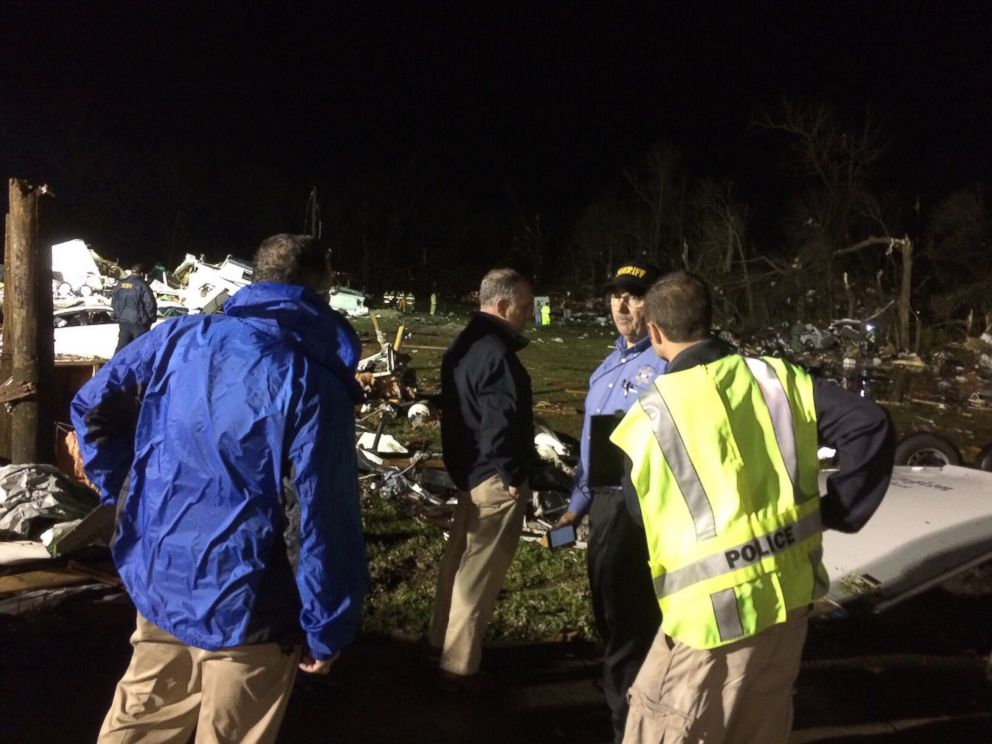PHOTO: Gov. John Bel Edwards traveled to Convent, La. to check on the storm-ravaged area.