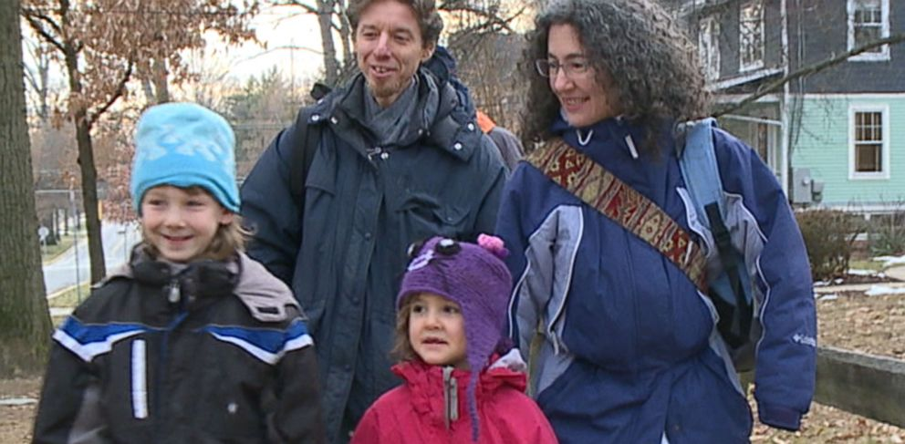 PHOTO: Danielle Meitiv and her family are seen in this grab from an undated video.