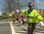 PHOTO: Former NBA star, Adrian Dantley, is working as a crossing guard in Silver Springs, Md.