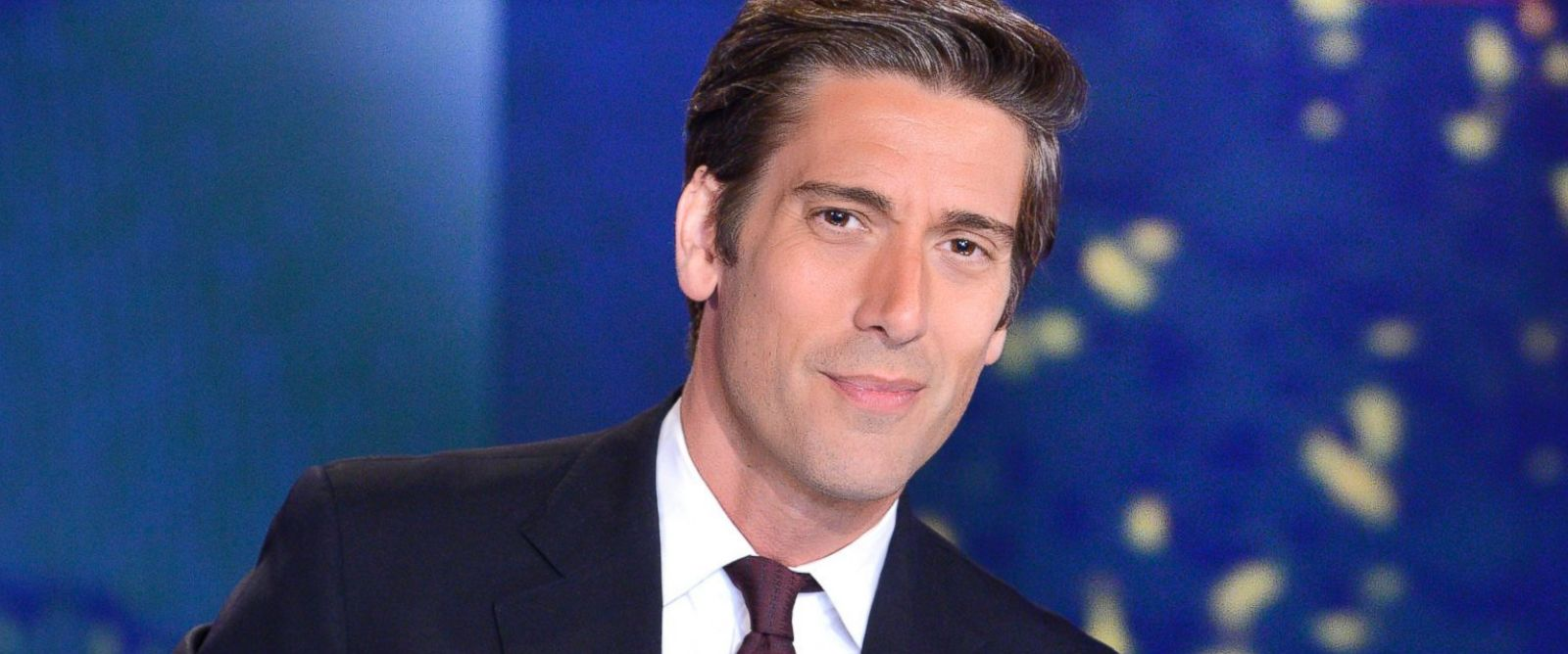 "PHOTO: ABC News anchor David Muir is pictured on the set of ""ABC World News Tonight with David Muir."""