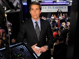 ABC news correspondent David Muir is seen here in this undated photo.