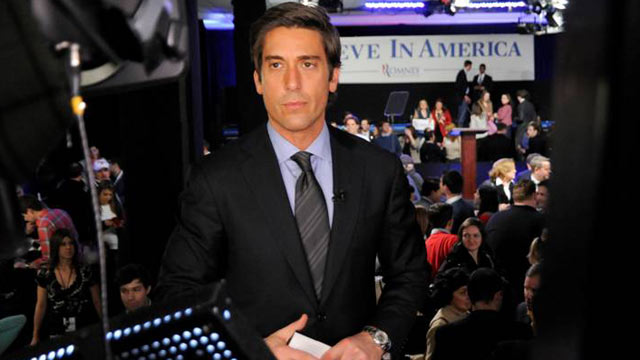 PHOTO: ABC news correspondent David Muir is