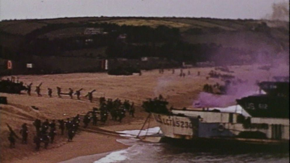 D Day Invasion Color D-Day Color Footage Gi...