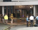 PHOTO: A shooter at the Wilmington Courthouse in Delaware has been killed by police, Feb. 11, 2013.