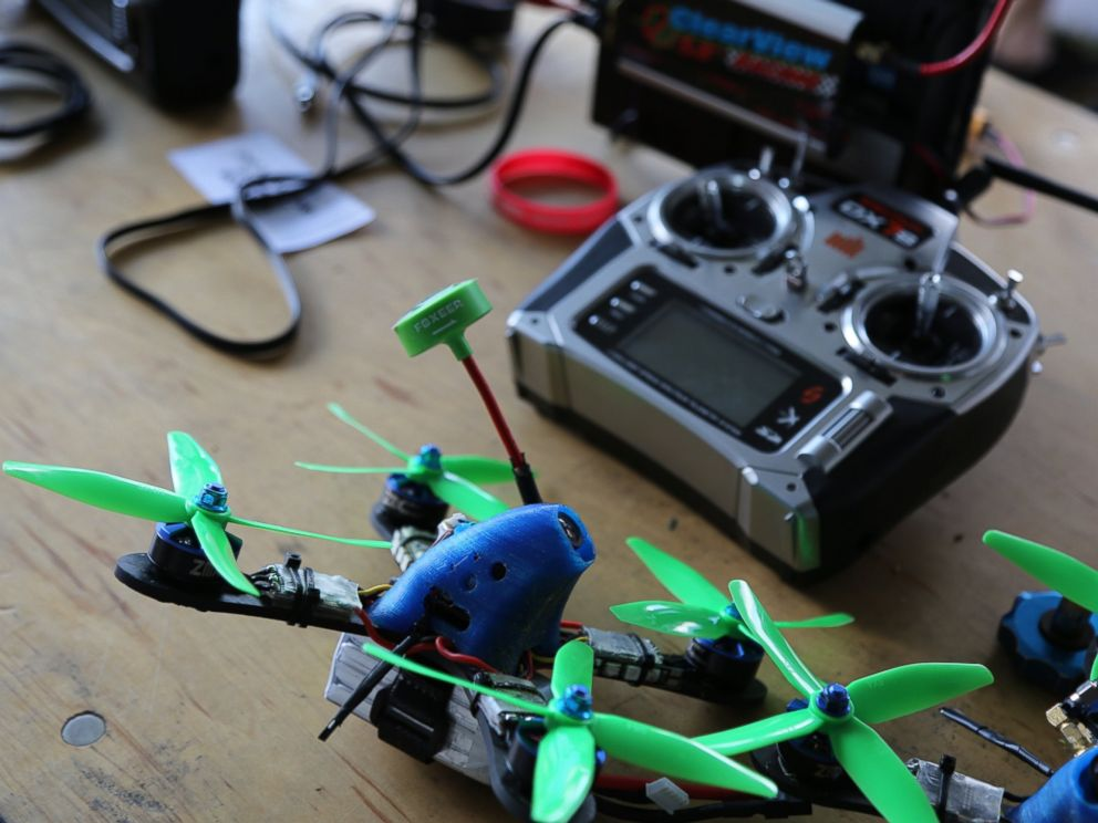 PHOTO: Ken Loo custom built his drone (pictured) that he would use to compete in the National Drone Racing Championships on Governors Island, Aug. 5, 2016 in New York.