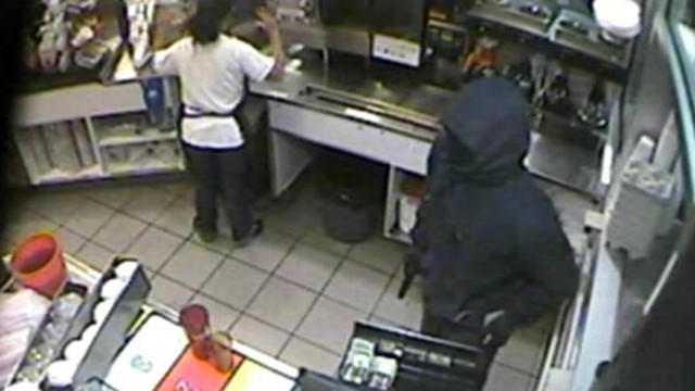 VIDEO: Surveillance video shows suspect taking cash from a register in Rockland, Mass.