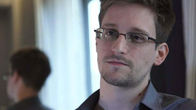 PHOTO: Edward Snowden, seen here in an interview with The Guardian