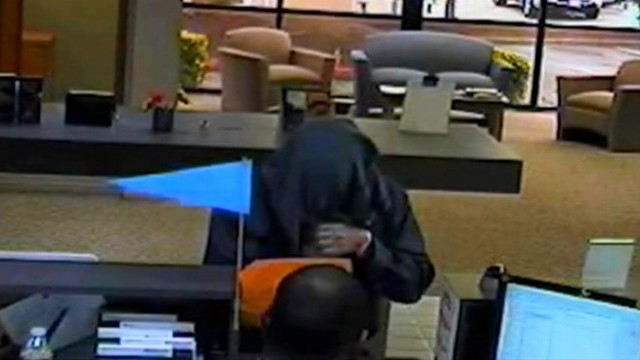 VIDEO: Surveillance video shows man suspected of three July bank robberies in the Seattle area.