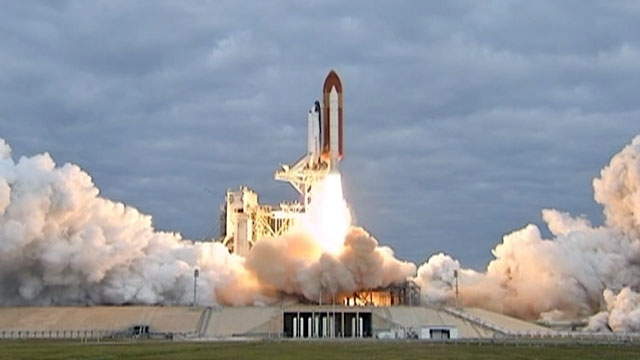 PHOTO: The space shuttle Endeavour takes off from the Kennedy Space Center in Cape Canaveral, Fla. on May 16, 2011.