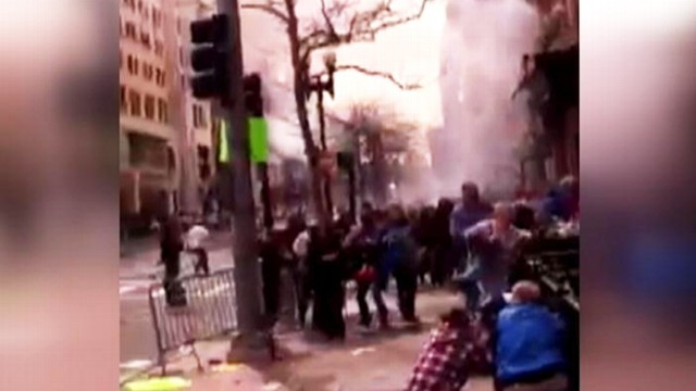 Video: Marathon Watchers Stuck Between Two Blasts