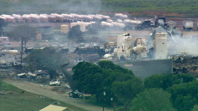 PHOTO: Aerial photos from HD Chopper 8 show incredible destruction in West, TX.