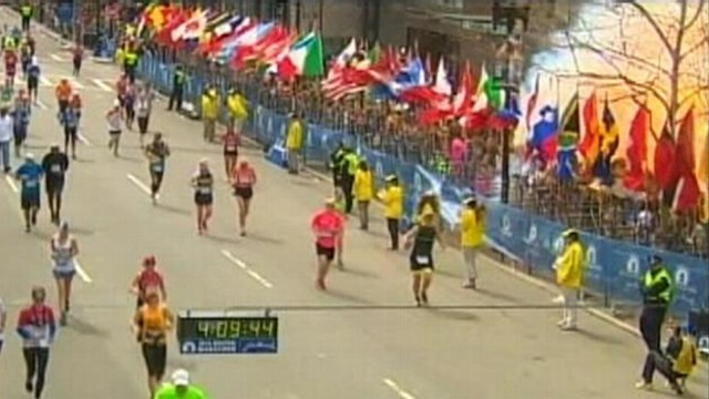 Video: Marathon Explosion at Finish Line Caught on Tape
