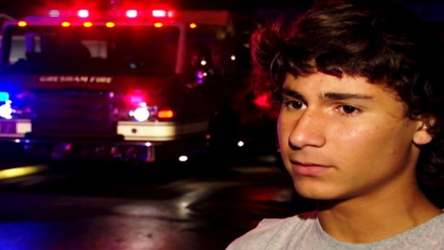 PHOTO: A 14-year-old boy went into a burning home on September 24, 2012 and rescued a young child.