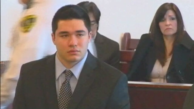 PHOTO: Nathaniel Fujita sits during testimony at his murder trial in Woburn, Mass., March 5, 2013.