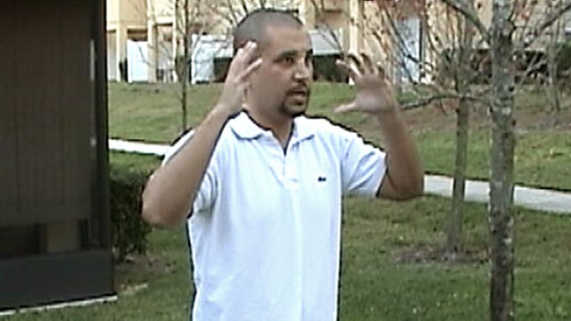 PHOTO: George Zimmerman participates in a video re-enactment of what happened the night he shot Trayvon Martin, in Sanford, Fla.