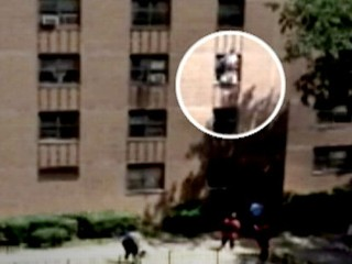 Man Catches Girl From 3-Story Fall
