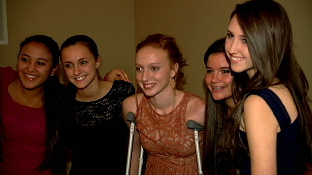 PHOTO: Alexis Hanford, (C) endures 17 surgeries in time for homecoming dance.