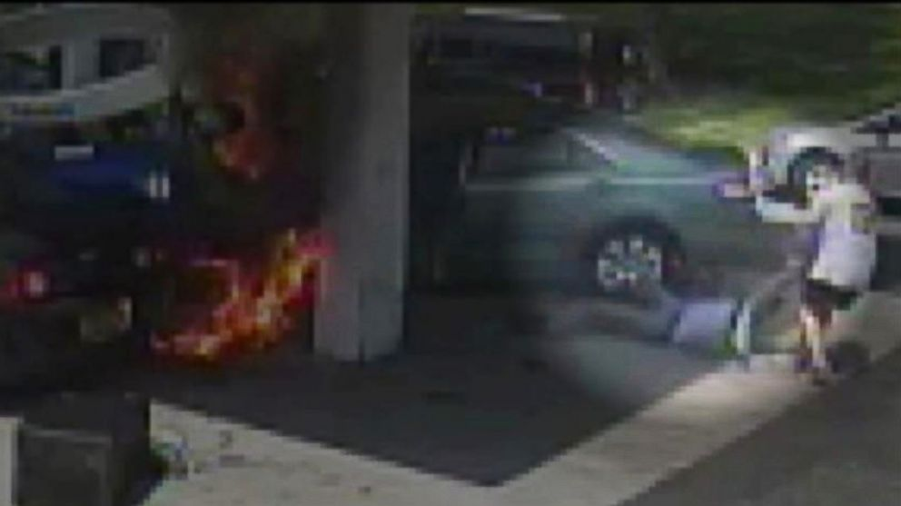 PHOTO: Video captures the dramatic moments when John Vescio saved a helpless driver from a gas fire.