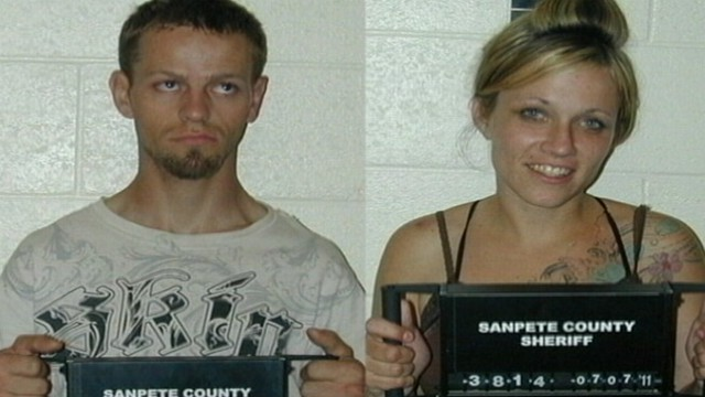 VIDEO: Logan McFarland, 24, and Angela Atwood, 25, are suspected of murder.