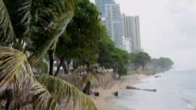 PHOTO: The U.S. National Hurricane Center in Miami said a hurricane warning is