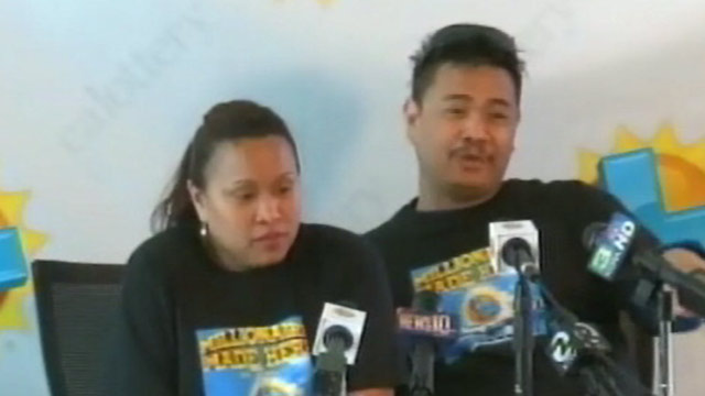 PHOTO: Bladimir and Marita Agnite of Fremont, Calif., came forward to claim the $52 million Mega Millions jackpot after a friend or relative told Bladimir he had seen his picture on the news.