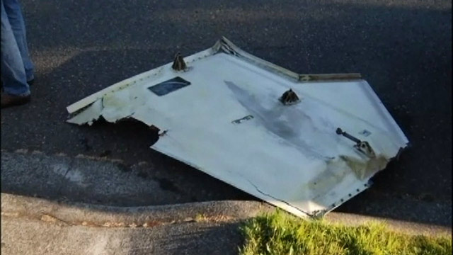 PHOTO: The FAA is investigation after a refrigerator door-sized aircraft part crashed into a Seattle neighborhood.