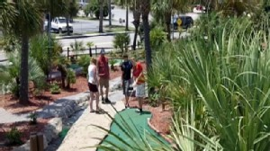 Video: A profile on the worlds toughest mini-golf course.