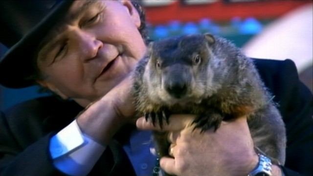 VIDEO: Punxsutawney Phils shadow means six more weeks of winter in 2012.