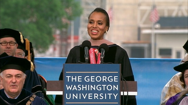 kerry washington returns to her alma mater to address graduates at the