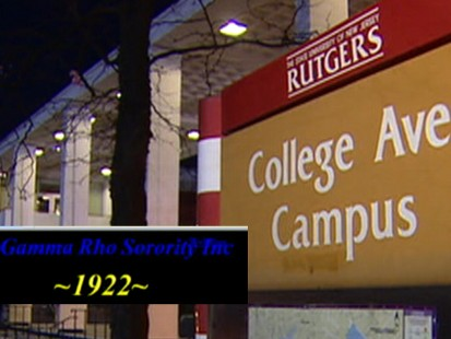 Video: Sorority members at Rutgers University arrested on hazing charges.