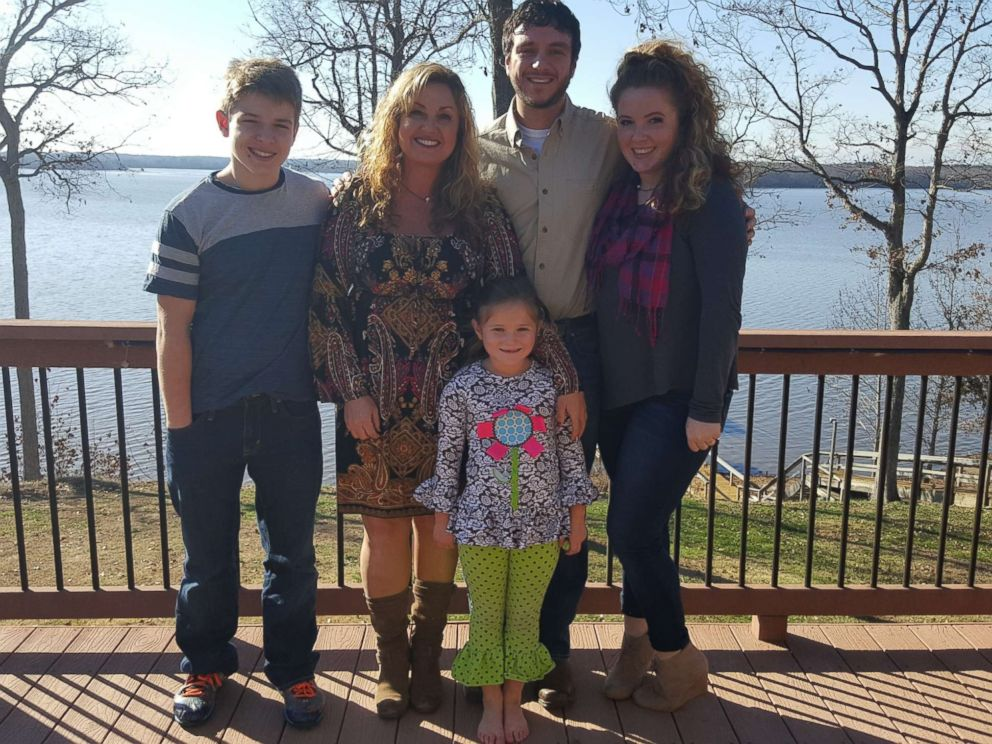 Heather Melton is seen here with her three children and her husband, Sonny Melton, in this undated family photo.