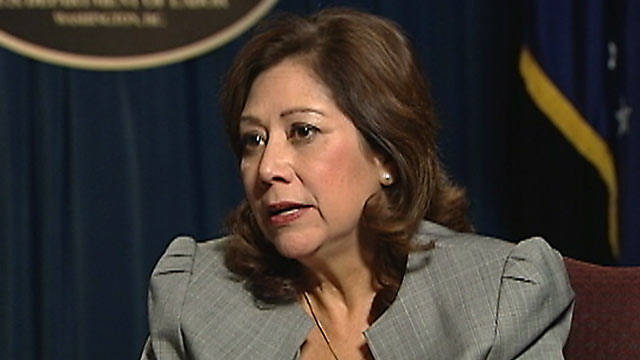 "PHOTO: ""Its a big cost,"" Secretary of Labor Hilda Solis told ABC News in regard to ""improper payments"" of unemployment benefits that were made in 2011."