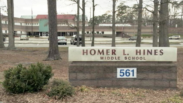 PHOTO: Two middle school students from  Hines Middle School, in Newport News, Va., allegedly tried to poison a teacher by mixing hand sanitizer in her drink.