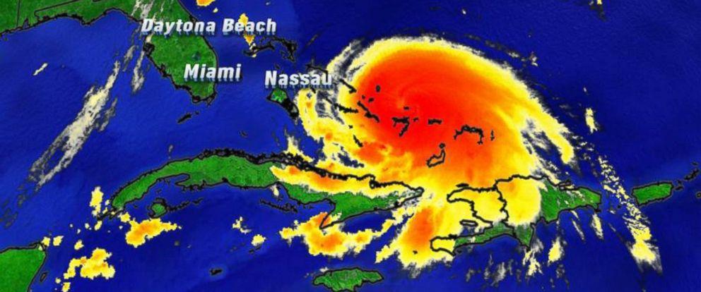 PHOTO: Satellite imagery of Hurricane Joaquin in the Caribbean, taken on Oct. 1, 2015