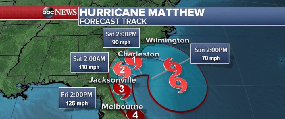 "PHOTO: Hurricane Matthew was upgraded to Category 4 on Oct. 6, 2016, as millions in the U.S. were warned that ""this storm will kill you."""