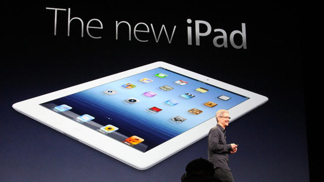 PHOTO: Apple iPad 3 event on March 7, 2012 in San Francisco, Ca.