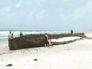 Mystery Shipwreck Uncovered by Hurricane Isaac