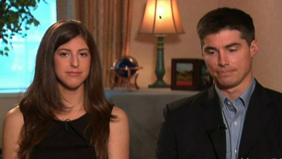 PHOTO: Michael and Katie Foley, the brother and sister of slain journalist James Foley, are seen being interviewed by Katie Couric on Aug. 21, 2014.