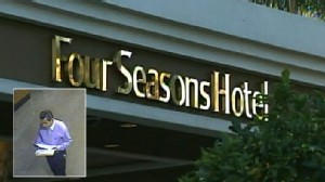 Video: Serial Calif. jewelry thief strikes at the Four Seasons hotel.