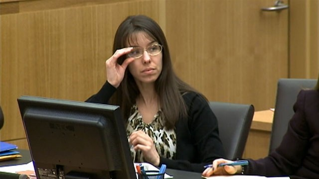 PHOTO: Defendant Jodi Arias, during her trial at the Maricopa County Superior Court, Jan. 15, 2013, in Phoenix, AZ.