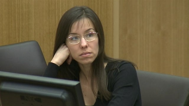 PHOTO: Jodi Arias is seen here on Jan. 9, 2013, during the fourth day of her trial for the murder of her boyfriend, Travis Alexander, in Maricopa County, Ariz.