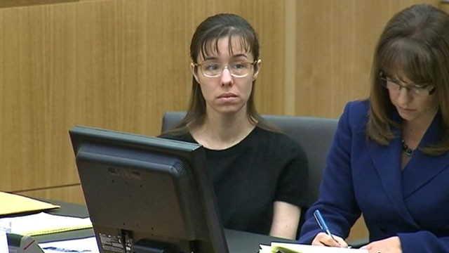 Jodi Arias during the sentencing phase of her trial at Maricopa County ...
