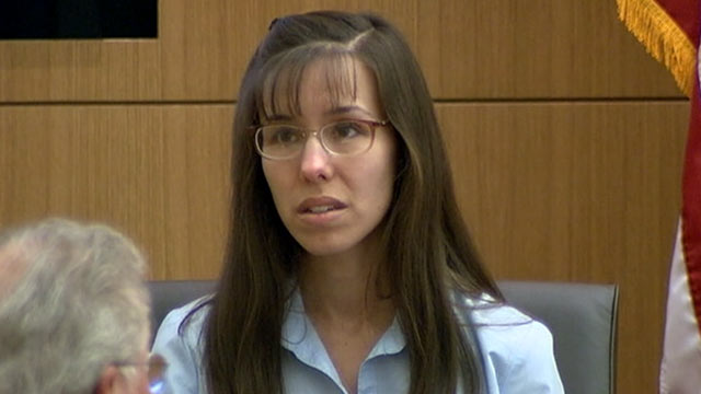 PHOTO: Defendant Jodi Arias testifies in her murder trial at Judge Sherry Stephens Superior Court, Feb. 20, 2013. Arias is charged in the 2008 stabbing and shooting death of her ex-boyfriend, Alexander. She faces the death penalty if convicted of first-d