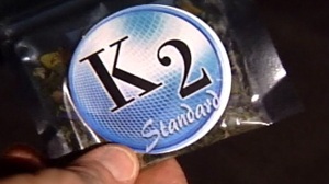 PHOTO K2, an herbal mixture product that offers the same high as marijuana is shown.