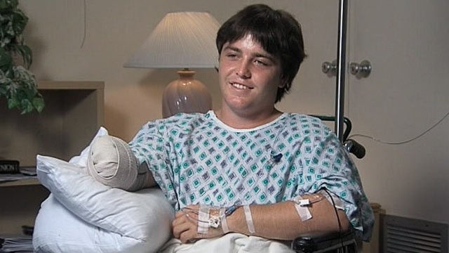 PHOTO: Kaleb Langdale lost his arm in an alligator attack in Moore Haven, Fla., July 9, 2012.