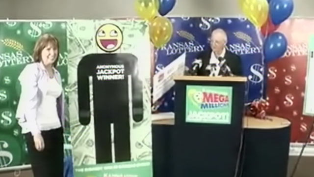Mega Millions winner in Kansas as stepped forward to claim the prize