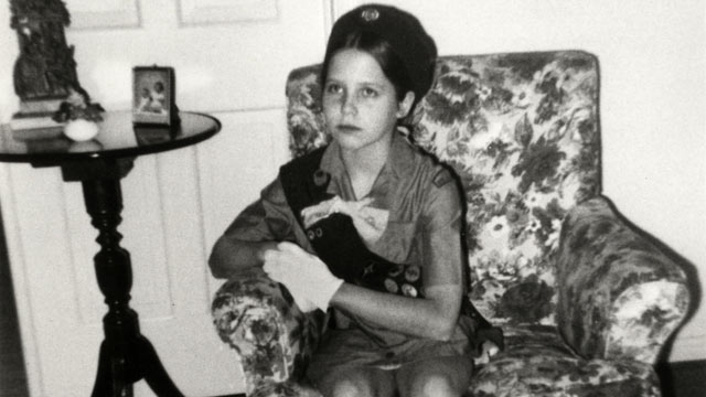 PHOTO: Journalist Katie Couric pictured in her Girl Scout uniform.
