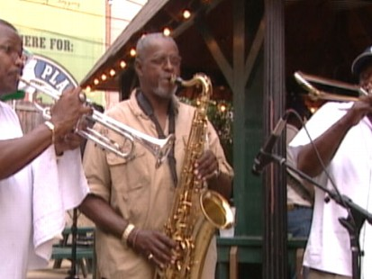 VIDEO: New Orleans musicians still turn to tunes for comfort.