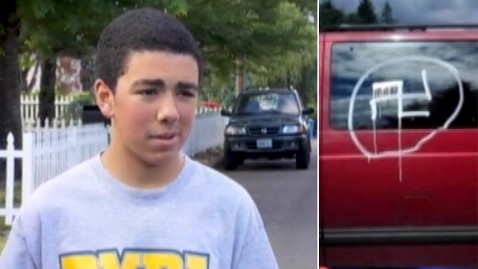 abc katu oregon swastika ll 130620 wblog Interracial Family Finds Swastika on Minivan