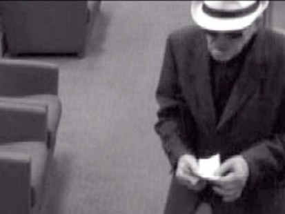Video: Calf. geezer bandit strikes again.